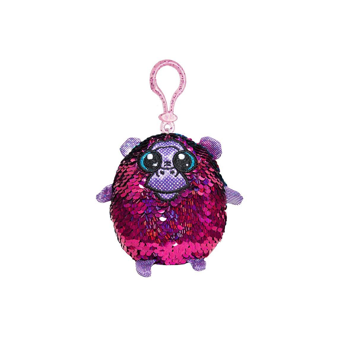 М'яка Іграшка з паєтками Shimmeez S2 - Хороша Мавпочка (9 см, на клипсі)