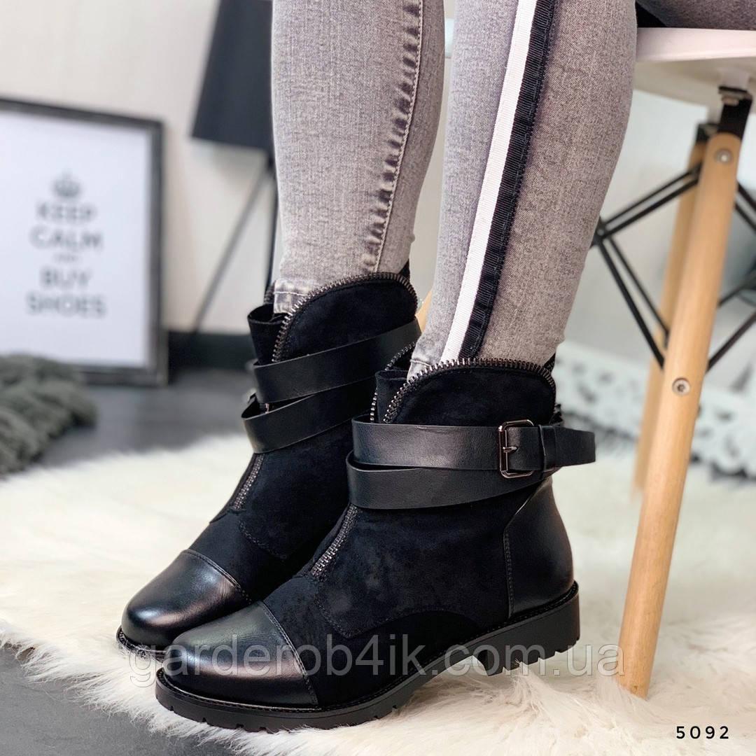 Стильные женские ботинки с ремешком
