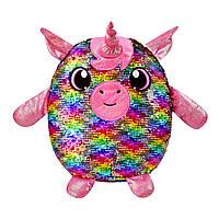 М'яка Іграшка з паєтками Shimmeez S2 - Сяючий Єдиноріг (36 см)