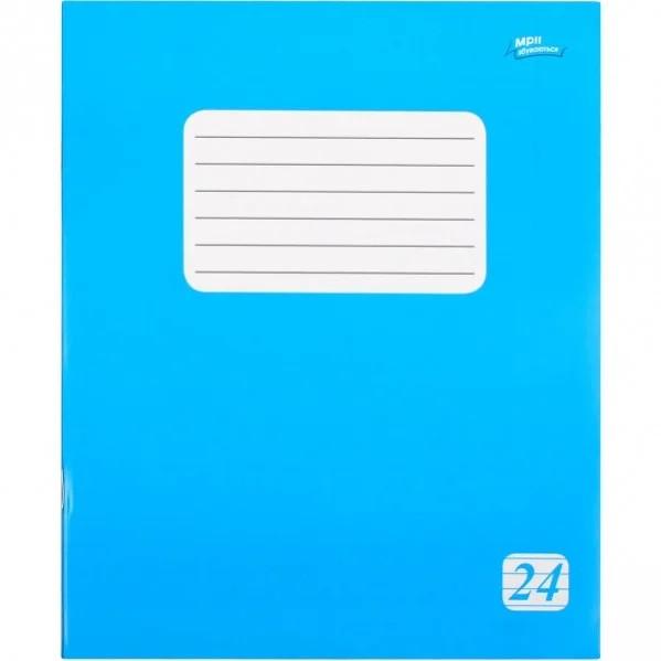 Тетрадь 24 листа линия эконом класса + (2225л) голубая обложка