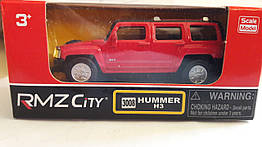 Коллекционная машинка 7 см Hummer H3 (красный) 1:64. Uni-Fortune 354008-2