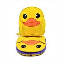 """Рюкзак детский """"Уточка"""" размер 26х23х10см, желтый, полиэстер, детский рюкзак, рюкзак, рюкзаки школьные, детские рюкзаки и сумки"""