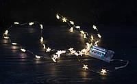 Гирлянда с LED- подсветкой звездочки Теплый свет 20 led, фото 1