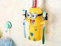 Автоматический дозатор для зубной пасты с держателем для щеток (миньоны)!!!