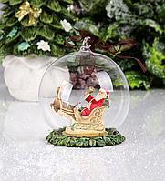 Подвеска, шар на елку Санта 191-022. Новогодний декор