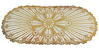 Овальная салфетка с золотым декором 83х40 см (HT0353)