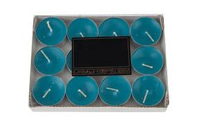 Свечи ароматизированные в металлическом корпусе (10шт), синий (HT0373)