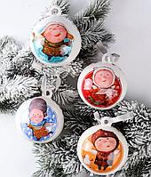 Набор из 4 шаров на елку Волшебные ангелы от Гапчинской