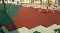 Резиновое напольное покрытие для спортивной детской площадки. Резиновые маты.10 мм. Упрочненные.