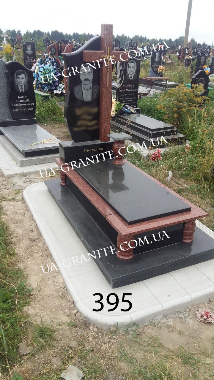 Ексклюзивні пам'ятники закритим квітником хрест граніту