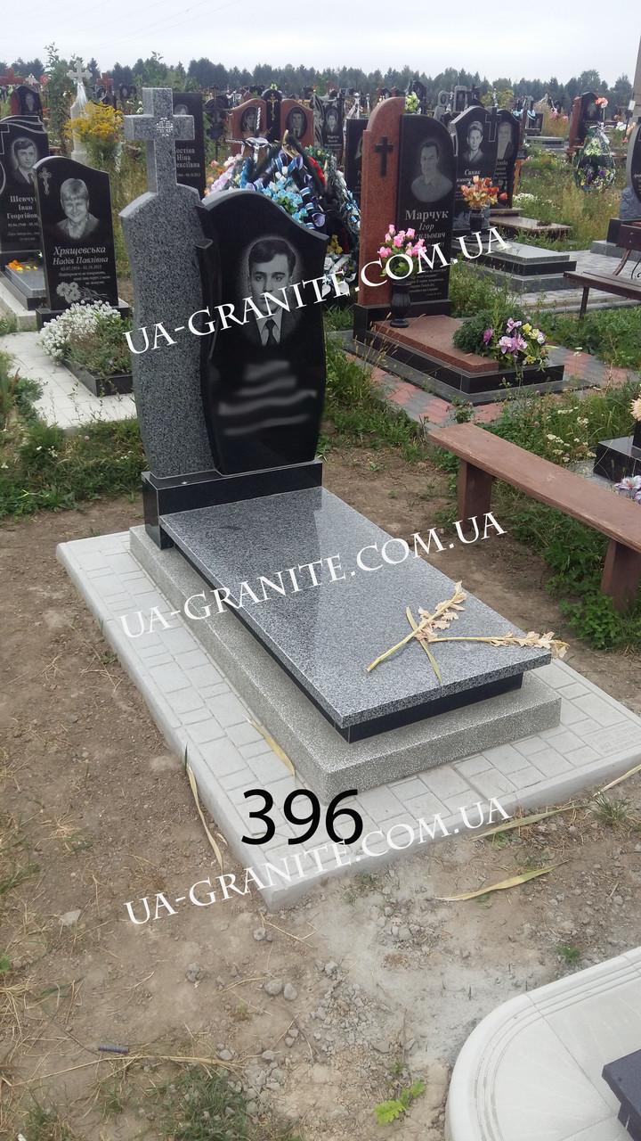 Ексклюзивні пам'ятники сірий хрест граніту