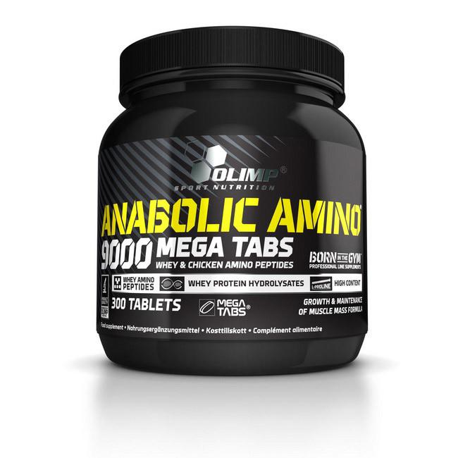 Аминокислоты ANABOLIC AMINO 9000 Mega Tabs 300 таблеток