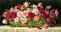 """Алмазная вышивка. Набор """"Букет роз"""" 95*50 см, полная выкладка, 50 цветов"""