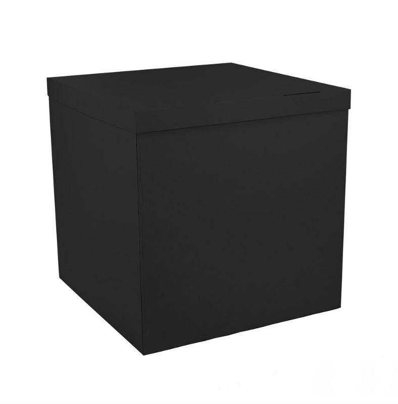 Коробка сюрприз для шаров черная, класс А 70х70х70см (черная внутри)
