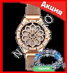 Часы Flower Diamond браслет в подарок, фото 3