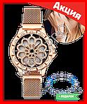 Часы Flower Diamond браслет в подарок, фото 4