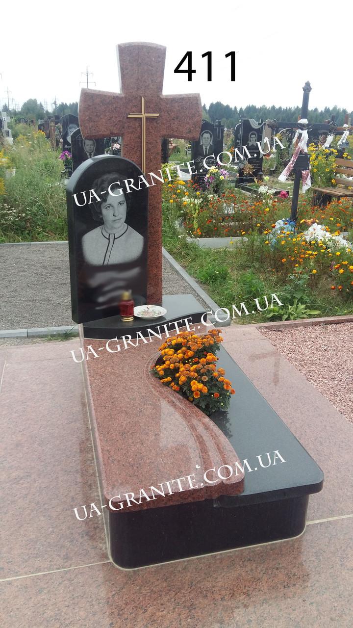 Элитные памятники для женщины на могилу с крестом гранита