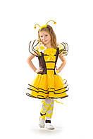 Детский карнавальный костюм для девочки Пчелка «Кокетка» 100-110 см, 120-130 см, желтый, фото 1