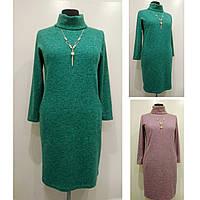 Платье женское осеннее большого размера 56 (54, 58, 60) батал для полных женщин №308