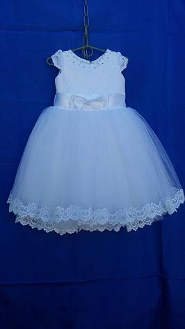 Платье нарядное для девочки с кружевом р. 3-4 лет опт, фото 2