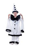 Детский карнавальный костюм для мальчика «Пьеро» 120-135 см, белый
