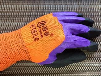 Робочі рукавички стрейч нітрилові, покриті спіненої гумою(долоню залита повністю)