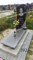 Ексклюзивні пам'ятники на могилу із сірого граніту