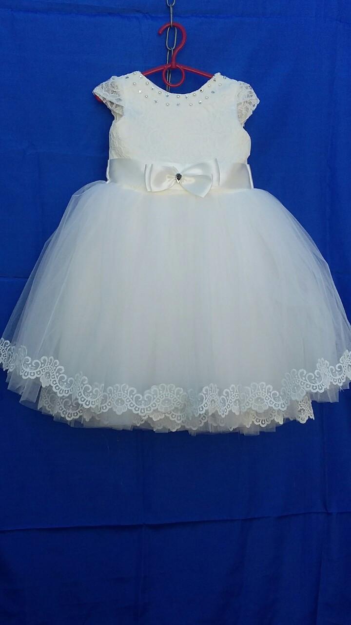 Платье нарядное для девочки с кружевом р. 3-4 лет опт