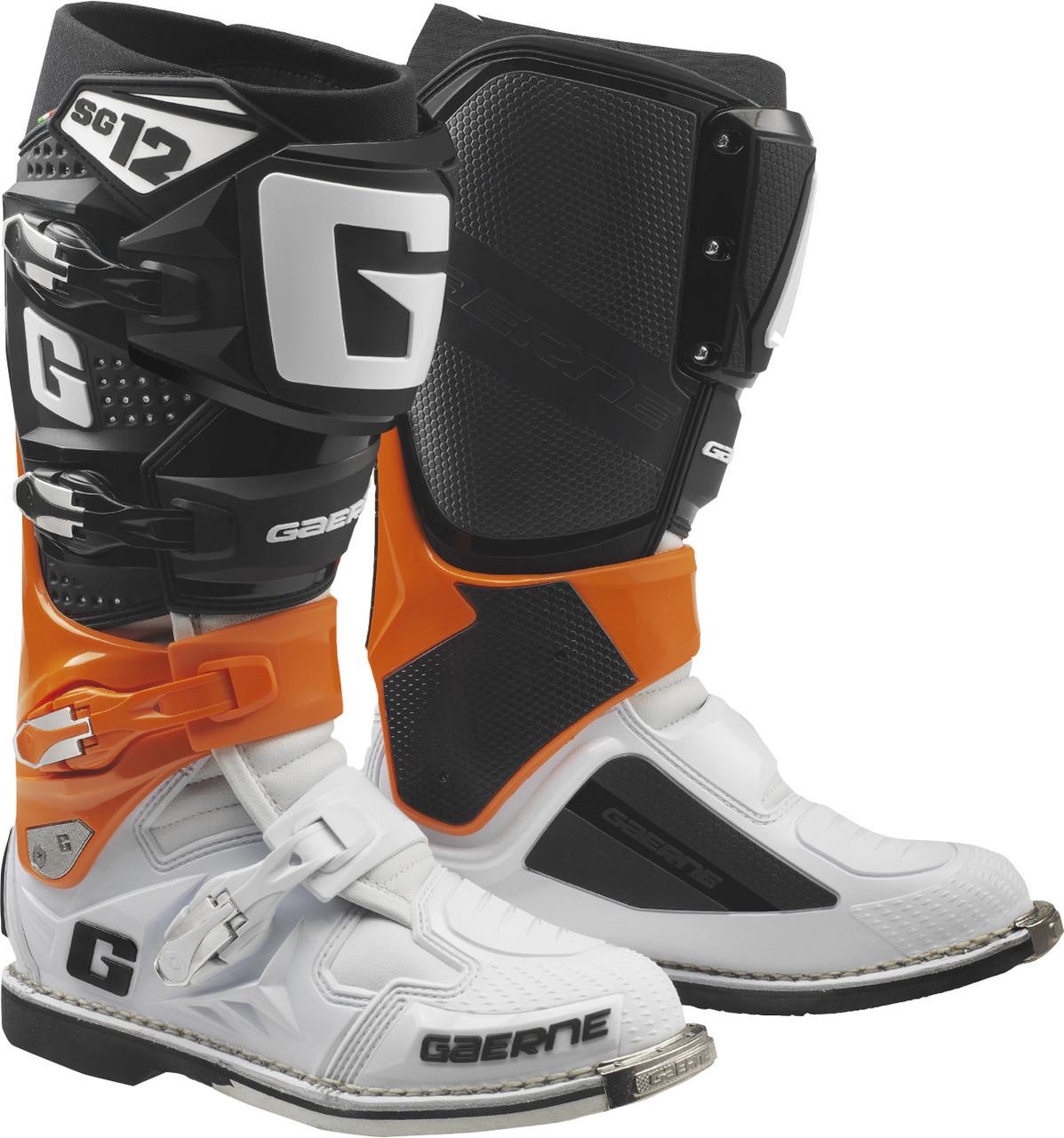 Мотоботинки кроссовые Gaerne SG-12 оранжевый / черный / белый, 42