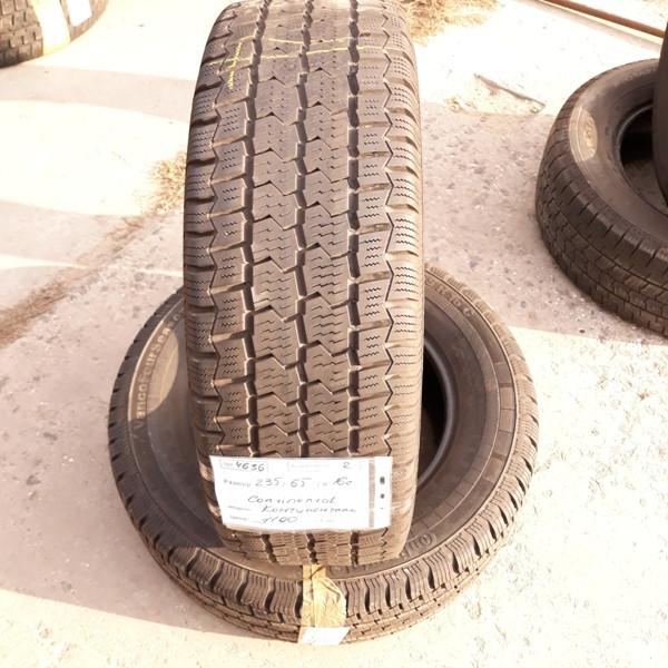 Шины б.у. 235.65.r16с Continental Vanco Four Season Континенталь. Резина бу для микроавтобусов. Автошина усиленная. Цешка