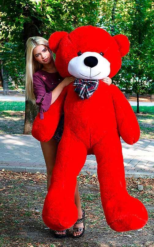 Плюшевый Мишка Нестор 200см. Большой  Мишка игрушка Плюшевый медведь Мягкие мишки игрушки Ведмедик (Красный)