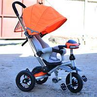 Детский трехколесный велосипед Т-350 Кроссер надувные колеса лазурный, фото 1