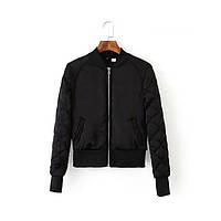 Женский бомбер куртка  H&M утепленный цвет черный и оливковый