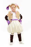 Детский карнавальный костюм для девочки «Овечка» 100-110 см, бежевый, фото 1