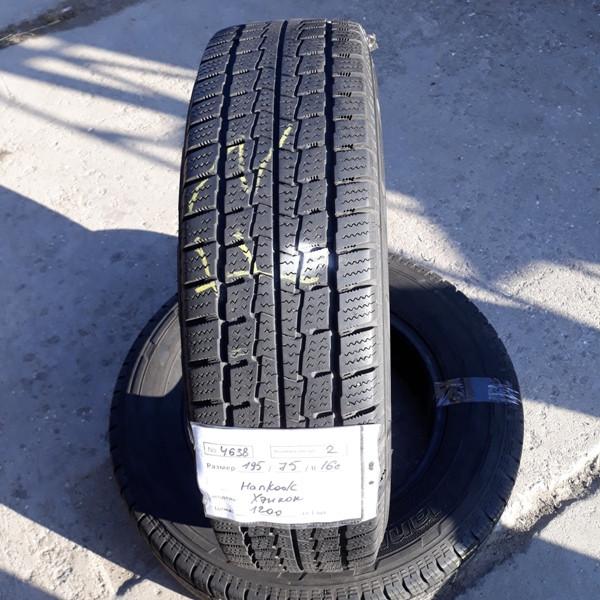 Бусовские шины б.у. / резина бу 195.75.r16с Hankook Winter RW06 Хенкок