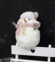 Снеговик  в розовой шапке, фото 1