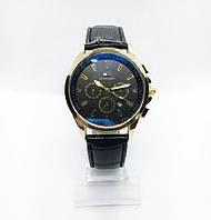 Мужские наручные часы Тоmmy Нilfigеr (Томми Хилфигер), золото с черным циферблатом ( код: IBW244YB )