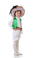 Детский карнавальный костюм для мальчика Грибочек «Масленок» 100-110 см, бело-коричневый, фото 1