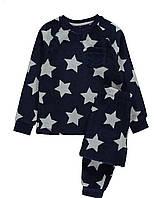 Флисовая (плюшевая) пижамка  синяя в звезды George (Англия) р.128, 134, 140см, фото 1