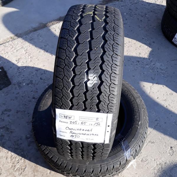 Шины б.у. 205.65.r15с Continental Vanco Four Season Континенталь. Резина бу для микроавтобусов. Автошина усиленная. Цешка