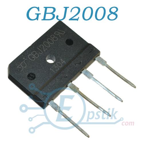 GBJ2008, діодний міст, 20А, 800В