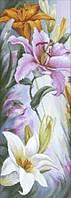 Набор для вышивки крестиком Лилии 21.5 х 55.5 см Dantel