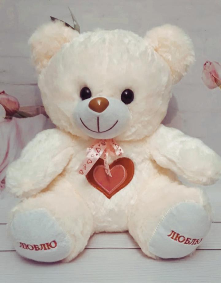 М'яка іграшка Ведмедик 45см (мутон, кремовий)