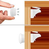 4штуки.Магнитный замок от детей на мебель, ящики, двери. Защита - блокиратор на мебель от детей.