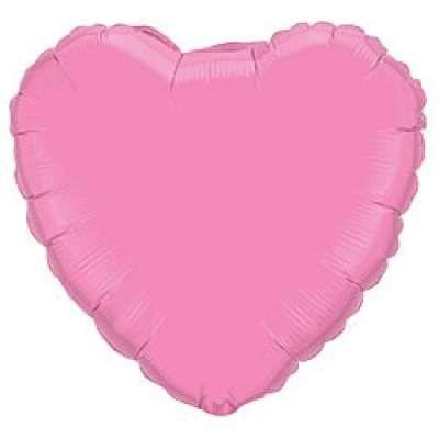 Фольговані кулі без малюнка серце 18/45  пастель рожеве / fm