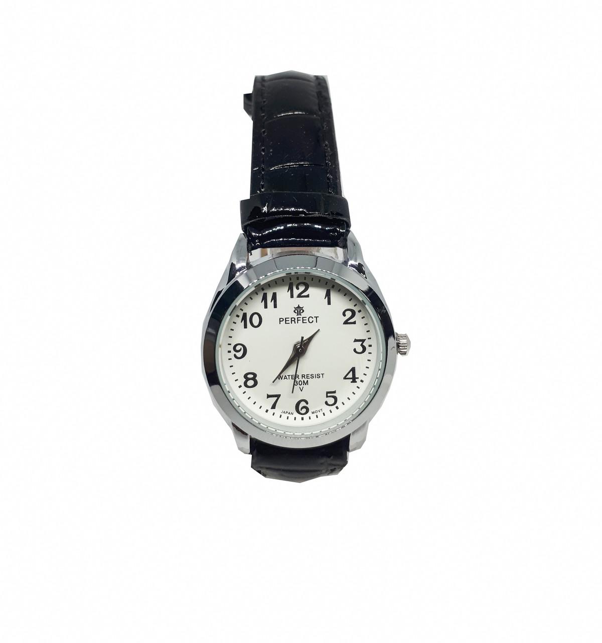 Часы кварцевые Perfect на ремешке женские черные