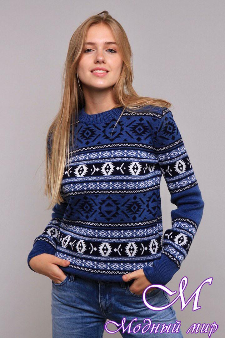 Стильний жіночий светр з жакардовим візерунком (ун. 44-48) арт. К-13-201