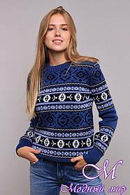 Стильный женский свитер с жаккардовым узором (ун. 44-48) арт. К-13-201
