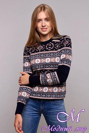 Стильний жіночий светр з жакардовим візерунком (ун. 44-48) арт. К-13-201, фото 2