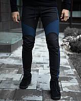 Мужские зимние штаны Vice City (черные с синим)